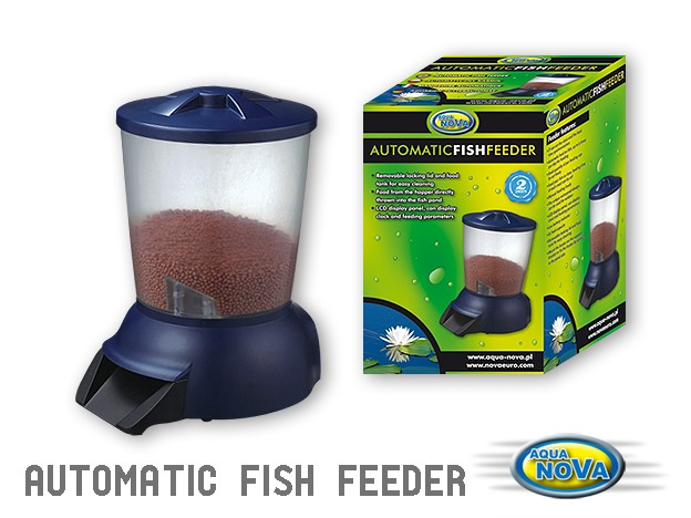 Aqua nova for Automatic pond fish feeder